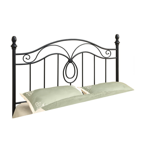 BED - QUEEN OR FULL SIZE / BLACK HEADBOARD OR FOOTBOARD  MN-2622Q