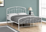 BED - QUEEN SIZE / WHITE METAL FRAME ONLY   MN-2645Q