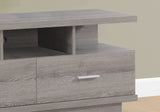 "TV STAND - 60""L / DARK TAUPE WITH 2 DRAWERS  MN-2675"