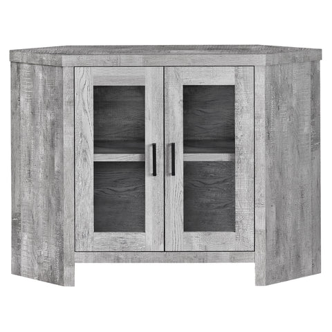 "TV STAND - 42""L / GREY RECLAIMED WOOD-LOOK CORNER   MN-2715"