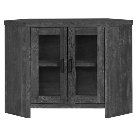 "TV STAND - 42""L / BLACK RECLAIMED WOOD-LOOK CORNER   MN-2716"