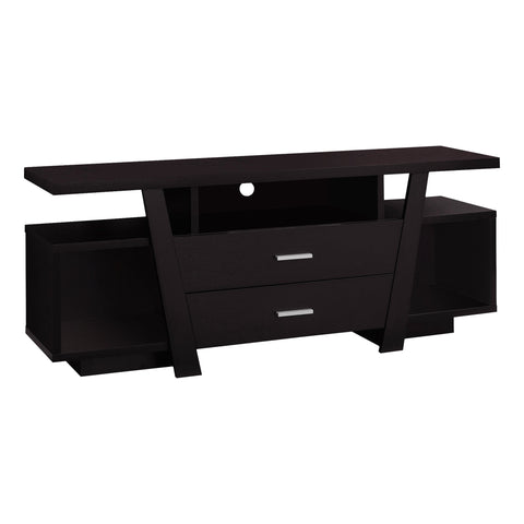 "TV STAND - 60""L / CAPPUCCINO WITH 2 STORAGE DRAWERS  MN-2720"
