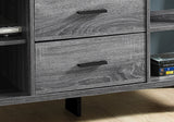 "TV STAND - 60""L / GREY-BLACK WITH 2 STORAGE DRAWERS  MN-2762"