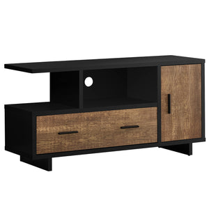 "TV STAND - 48""L / BLACK / BROWN RECLAIMED WOOD-LOOK    MN-2803"