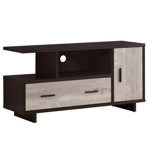 "TV STAND - 48""L / CAPPUCCINO / TAUPE RECLAIMED WOOD-LOOK  MN-2805"