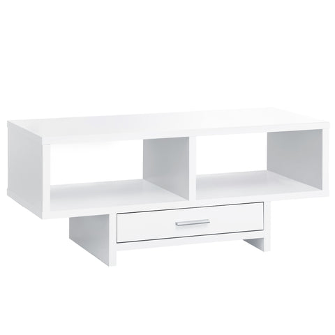 COFFEE TABLE - WHITE WITH STORAGE  MN-2806