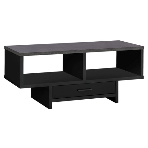 COFFEE TABLE - BLACK / GREY TOP WITH STORAGE  MN-2807