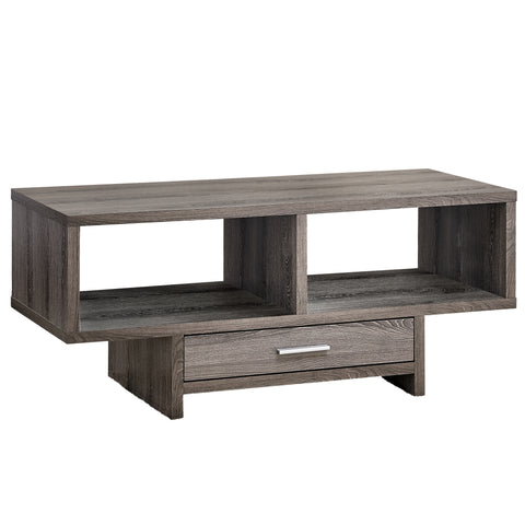 COFFEE TABLE - DARK TAUPE WITH STORAGE  MN-2808