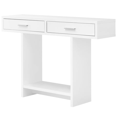 "ACCENT TABLE - 48""L / WHITE WITH DRAWERS  MN-2812"