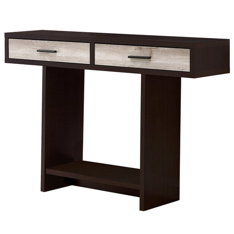 "ACCENT TABLE - 48""L / CAPPUCCINO / TAUPE RECLAIMED WOOD  MN-2817"
