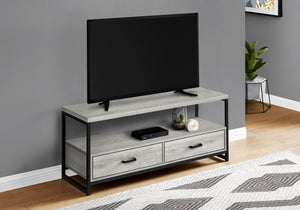 "TV STAND - 48""L / GREY / BLACK METAL    MN-032871"