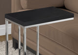 ACCENT TABLE - CAPPUCCINO WITH CHROME METAL  MN-3007