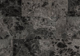 VANITY SET - 2PCS SET / GREY MARBLE / CHARCOAL METAL   MN-3062
