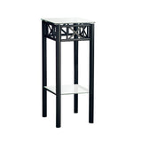 ACCENT TABLE - BLACK METAL WITH TEMPERED GLASS   I-3078