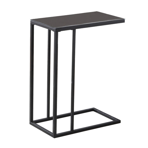 ACCENT TABLE - BLACK METAL / BLACK TEMPERED GLASS  MN-3087