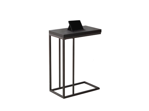 ACCENT TABLE - CAPPUCCINO / BRONZE METAL  I-3088
