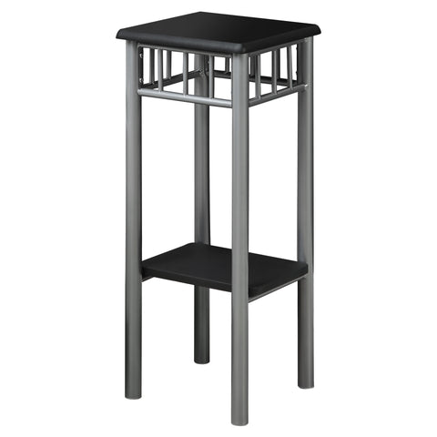 ACCENT TABLE - BLACK / SILVER METAL   MN-3094