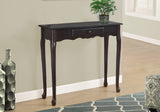 "ACCENT TABLE - 36""L / DARK CHERRY HALL CONSOLE   MN-3109"