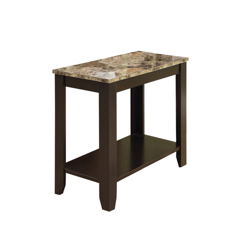 ACCENT TABLE - CAPPUCCINO / MARBLE TOP   MN-3114