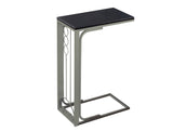 ACCENT TABLE - CAPPUCCINO TOP / CHAMPAGNE METAL   I-3135