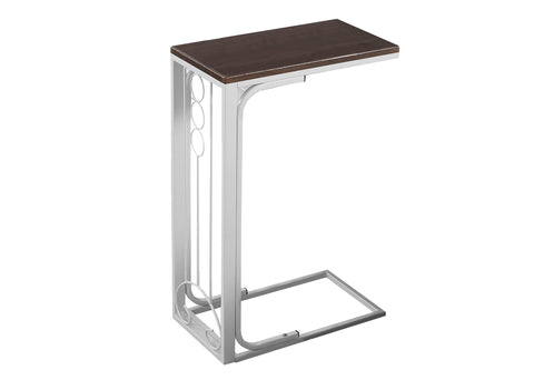 ACCENT TABLE - CHERRY TOP / ANTIQUE WHITE METAL   I-3136