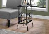 "ACCENT TABLE - 30""H / BLACK METAL WITH TEMPERED GLASS   MN-3159"
