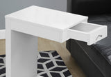 ACCENT TABLE - WHITE WITH A DRAWER   MN-3192