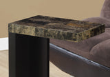 ACCENT TABLE - CAPPUCCINO / MARBLE-LOOK TOP  MN-3212