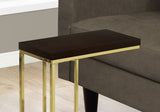 ACCENT TABLE - CAPPUCCINO / GOLD METAL   MN-3235