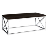 COFFEE TABLE - CAPPUCCINO / CHROME METAL   I-3270