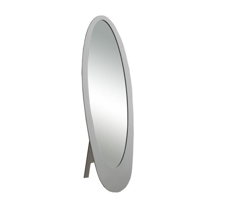 "MIRROR - 59""H / GREY CONTEMPORARY OVAL FRAME  MN-3359"