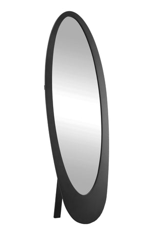 "MIRROR - 59""H / BLACK CONTEMPORARY OVAL FRAME  MN-3364"