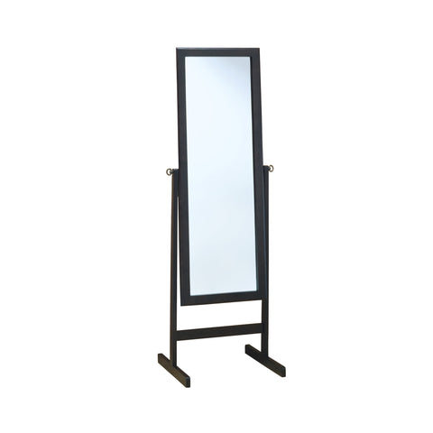 "MIRROR - 60""H / CAPPUCCINO WOOD FRAME  I-3368"