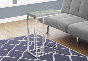 ACCENT TABLE - GREY CEMENT WITH CHROME METAL    MN-453372