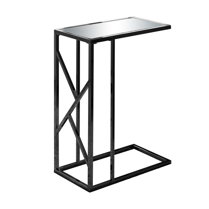 ACCENT TABLE - BLACK NICKEL METAL / MIRROR TOP    MN-3398