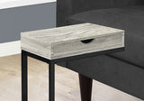 ACCENT TABLE - GREY RECLAIMED WOOD-LOOK / BLACK / DRAWER  MN-3407