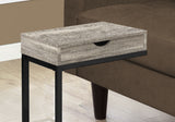 ACCENT TABLE - TAUPE RECLAIMED WOOD-LOOK / BLACK / DRAWER   MN-3408