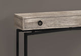 "ACCENT TABLE - 42""L / TAUPE RECLAIMED WOOD/ BLACK CONSOLE  MN-3455"