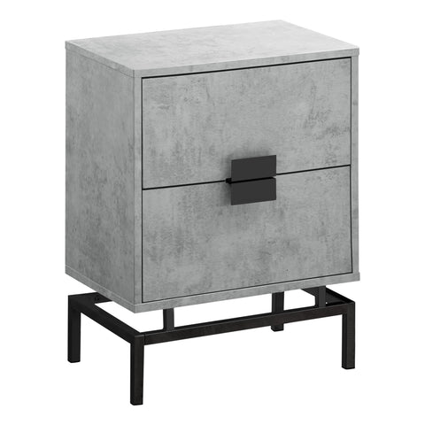 "ACCENT TABLE - 24""H / GREY CEMENT / BLACK NICKEL METAL   MN-3492"