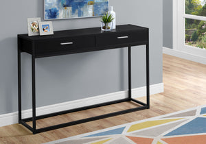 "ACCENT TABLE - 48""L / BLACK / BLACK METAL HALL CONSOLE    MN-3512"