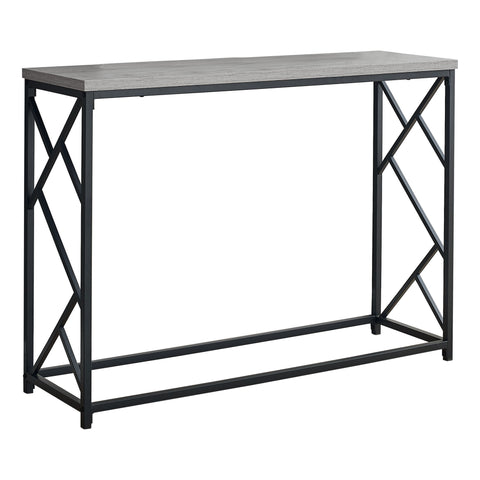"ACCENT TABLE - 44""L / GREY / BLACK METAL HALL CONSOLE  MN-3532"
