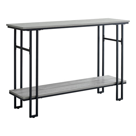 "ACCENT TABLE - 48""L / GREY / BLACK METAL HALL CONSOLE  MN-3576"
