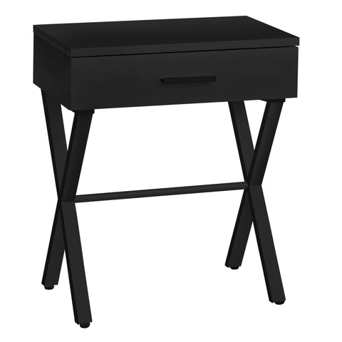"ACCENT TABLE - 24""H / BLACK / BLACK METAL  MN-3605"