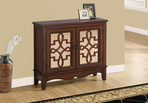 ACCENT CHEST - DARK WALNUT / MIRROR TRADITIONAL STYLE  I-3846