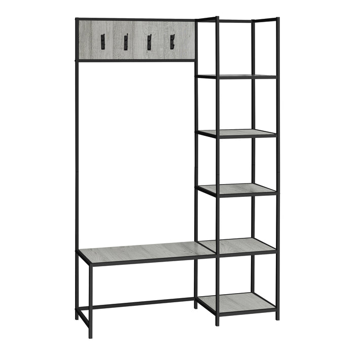 "BENCH - 72""H / GREY / BLACK METAL HALL ENTRY    MN-4512"