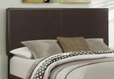 BED - QUEEN SIZE / DARK BROWN LEATHER-LOOK   MN-5910Q