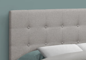 BED - FULL SIZE / GREY LINEN HEADBOARD ONLY    MN-6003F