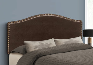 BED - QUEEN SIZE / BROWN LEATHER-LOOK HEADBOARD ONLY    MN-6010Q