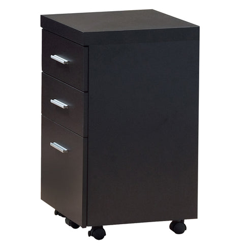 FILING CABINET - 3 DRAWER / CAPPUCCINO ON CASTORS  MN-7013