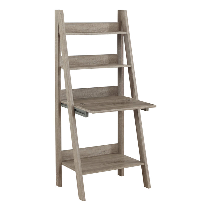 "COMPUTER DESK - 61""H / DARK TAUPE LADDER STYLE    MN-7042"